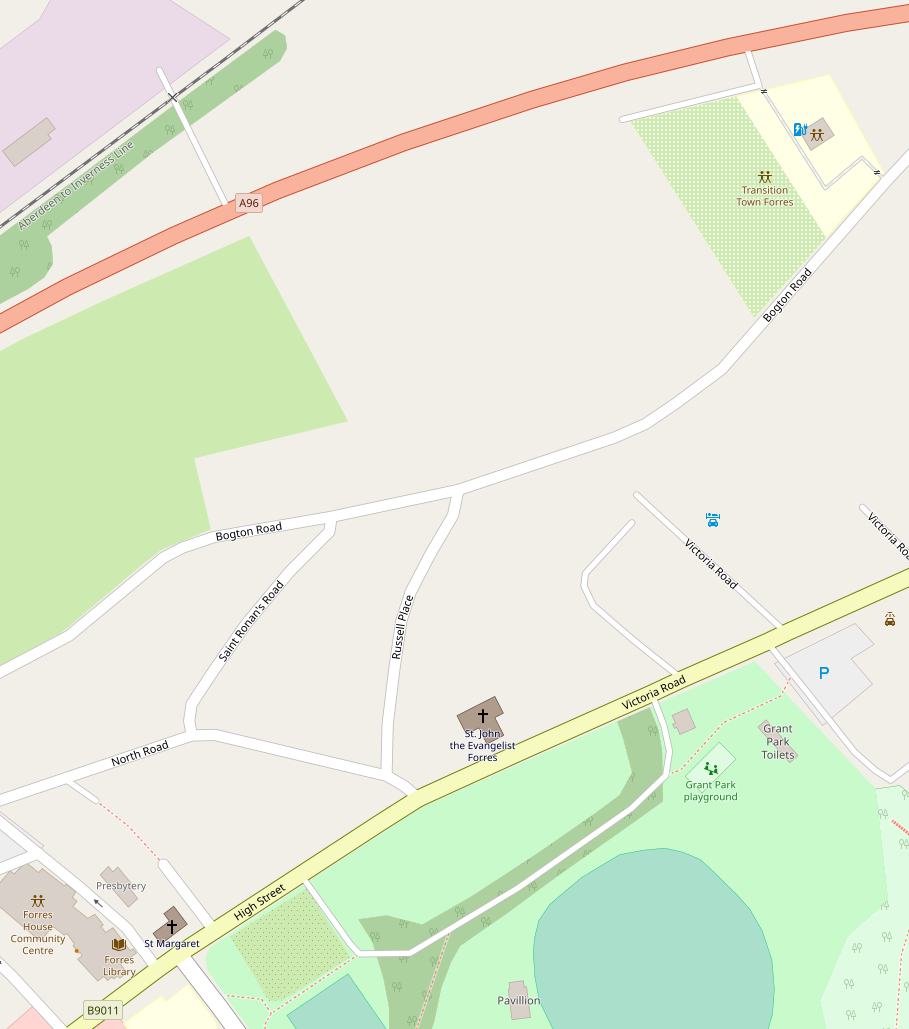 Image: Open Street Map view of the route to TTF.
