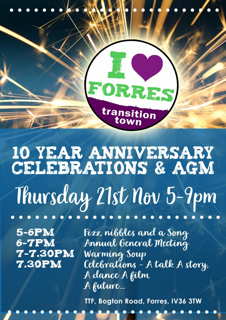 Poster for AGM and 10 year anniversary