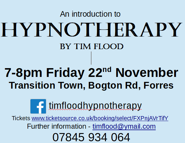 Poster - an introduction to hypnotherapy by Tim Flood